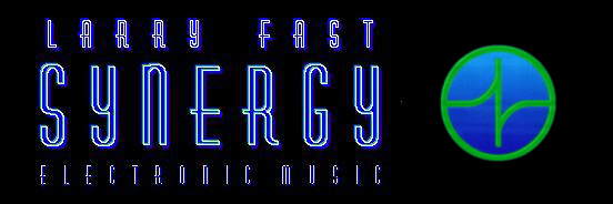 Larry Fast/Synergy text and logo